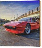 Ferrari 308 Wood Print
