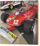 Ferrari 312t4 Front Left Museo Ferrari Wood Print