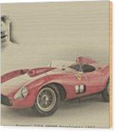 Ferrari 335 S Wood Print
