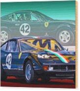 Ferrari 365 Gtc4 Wood Print
