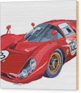 Ferrari 412p 330 P4 1967 Le Mans Wood Print