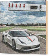 Ferrari 458 Wood Print
