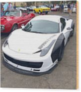 Ferrari 458 Wide Body Wood Print