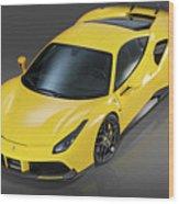Ferrari 488 Wood Print