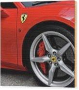 Ferrari 488gtb Wood Print