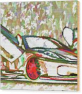 Ferrari 9 Wood Print