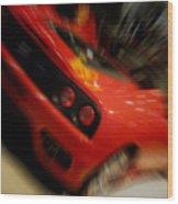 Ferrari Action Wood Print