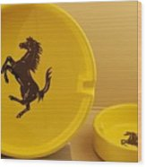 Ferrari Ash Catchers Wood Print