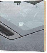 Ferrari Black Wood Print