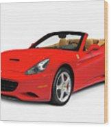 Ferrari California Wood Print