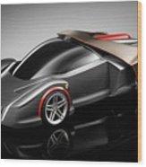 Ferrari Concept Black Wood Print