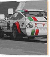 Ferrari Daytona 365 Gtb4 - Italian Flag Livery Wood Print