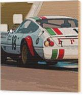 Ferrari Daytona - Italian Flag Livery Wood Print