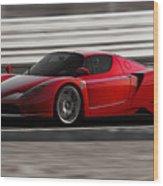 Ferrari Enzo - Rosso Corsa Wood Print