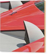 Ferrari Exhaust Pipes Wood Print