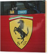 Ferrari F1 Sidepod Emblem Wood Print