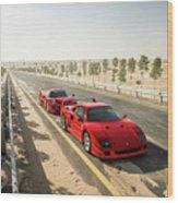 Ferrari F40 And F50 Wood Print