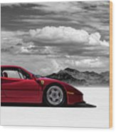 Ferrari F40 Wood Print by Douglas Pittman