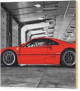 Ferrari F40 Wood Print