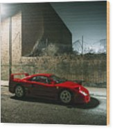 Ferrari F40 Lurking Wood Print