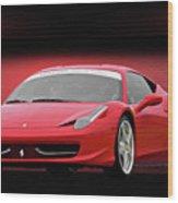Ferrari F458 'iconic Italian Sports Car' Wood Print