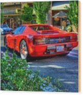 Ferrari From Afar Wood Print