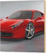 Ferrari Italia  Wood Print
