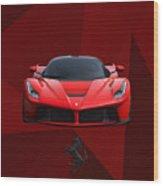 Ferrari Laferrari Wood Print