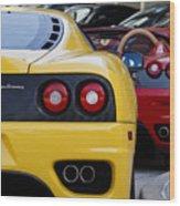 Ferrari Pair Wood Print