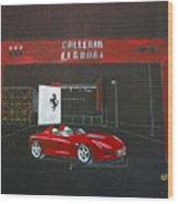 Ferrari Pininfarina Rossa Concept Wood Print