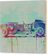 Ferrari Testa Rossa Watercolor 2 Wood Print