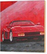 Ferrari Testarrossa Wood Print