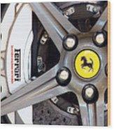 Ferrari Wheel Op 121915 Wood Print