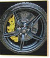 Ferrari Wheel Wood Print
