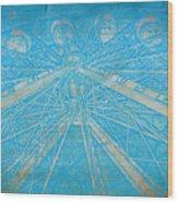 Ferris Sketch Wood Print