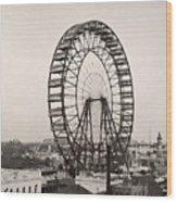 Ferris Wheel, 1893 Wood Print