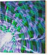 Ferris Wheel Abstract Xv Wood Print