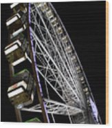 Ferris Wheel At Night 16x20 Wood Print