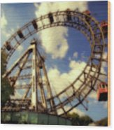 Ferris Wheel At The Prater Wood Print