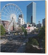 Ferris Wheel Atl Wood Print