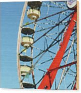 Ferris Wheel Closeup Wood Print