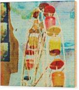 Ferris Wheel Fun Wood Print