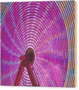 Ferris Wheel I Wood Print