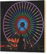 Ferris Wheel In Wildwood New Jersey Wood Print