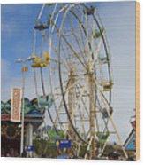 Ferris Wheel Santa Cruz Boardwalk Wood Print