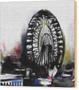 Ferris Wheel Tower Wood Print