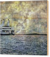 Ferry Boat Wood Print