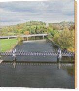 Ferry Bridge Burton On Trent Wood Print