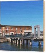 Ferry Building And Pinnacle Building - San Francisco Embarcadero Wood Print