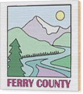 Ferry County II Wood Print by Sarah Lawrence